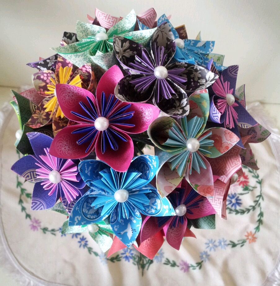 Handmade paper flowers heart handmade blog handmade jewlery alternative unique paper flower bouquets izmirmasajfo