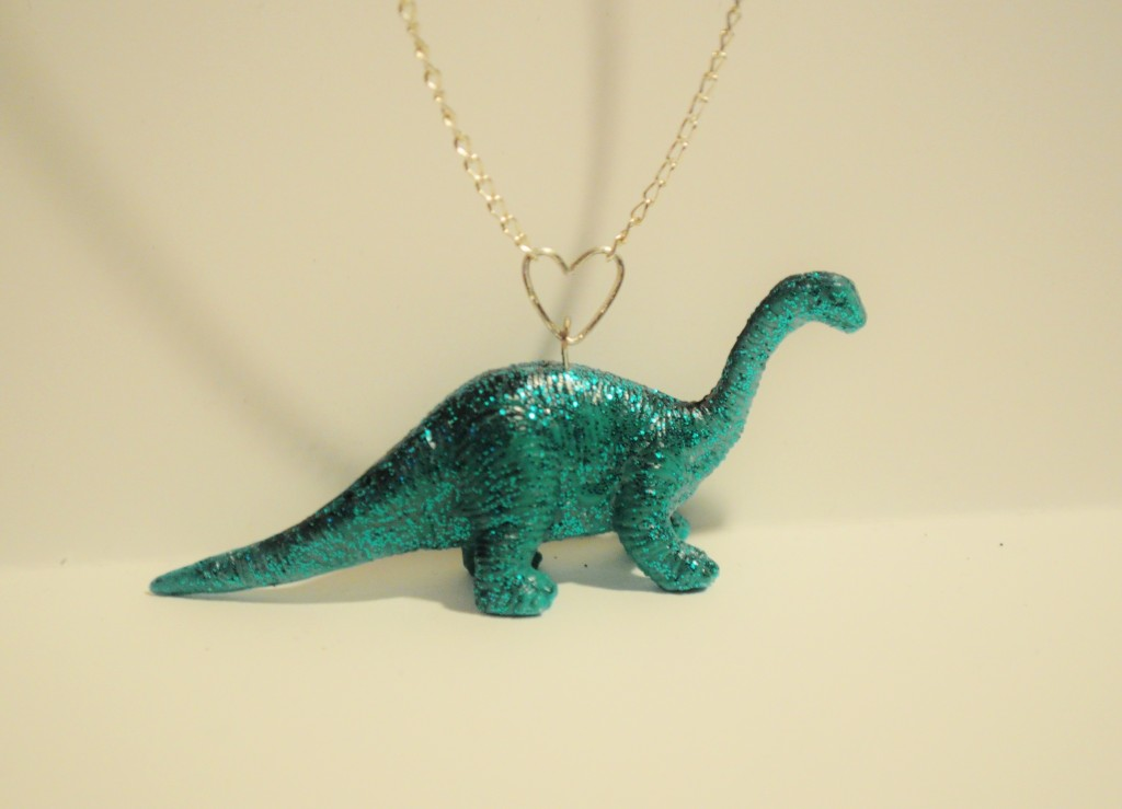 Upcycled and recycled dinosaur jewelry handmade jewlery for Recycled crafts to sell