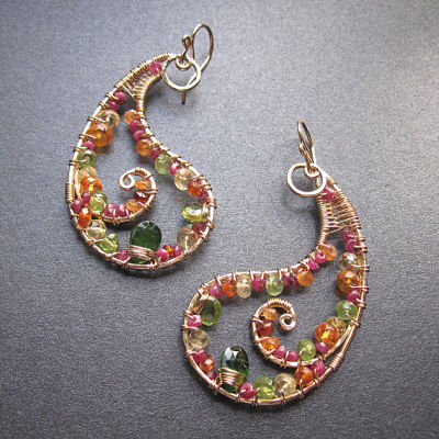 Curvilinear Handcrafted Colorful Gemstone Jewelry