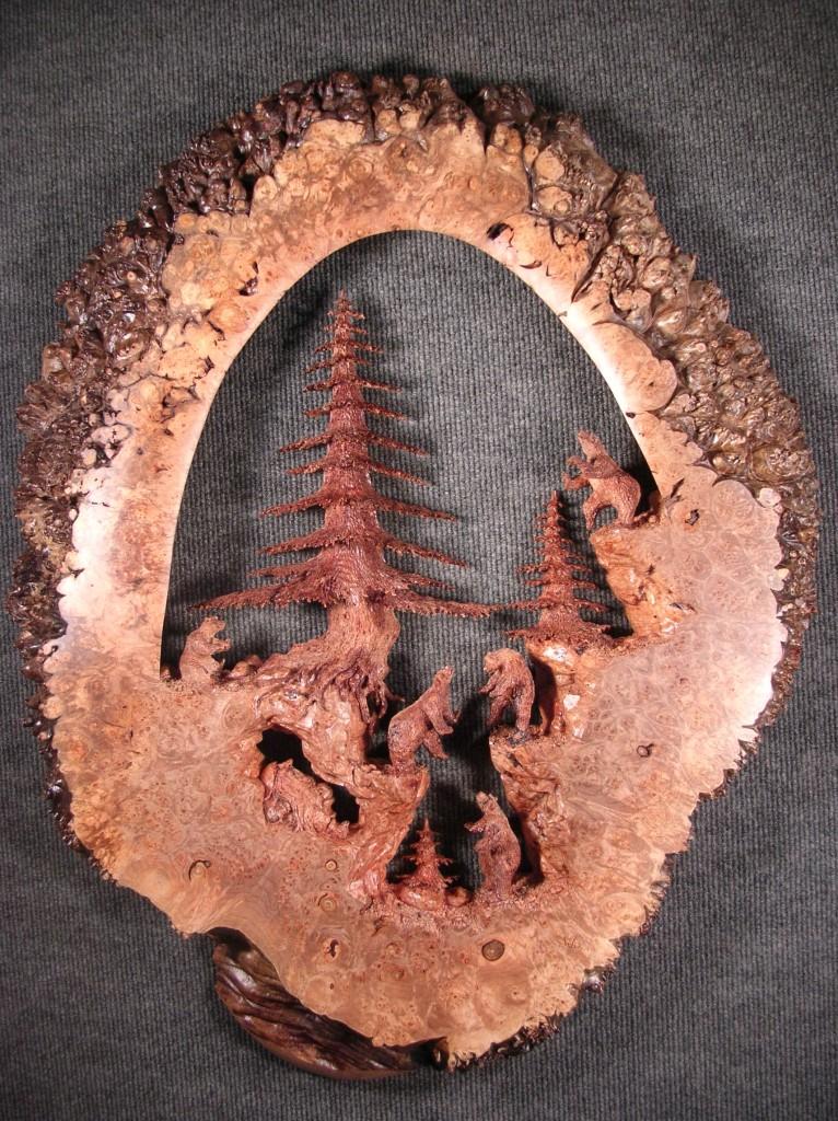 Handmade wood carvings by gary burns jewlery