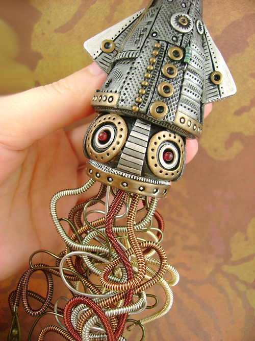 Steampunk style sculpture and design from monster kookies for Steampunk arts and crafts