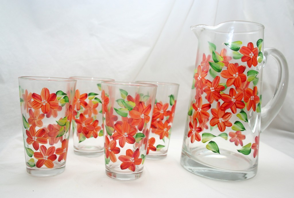 Beautifully Unique Hand-Painted Glassware