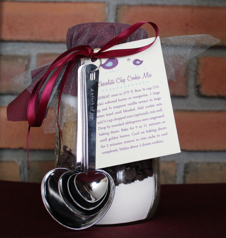Handmade Bridal Shower Mason Jar Cookie Mix Favors