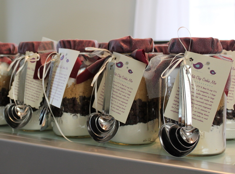 Handmade Bridal Shower Mason Jar Cookie Mix Favors