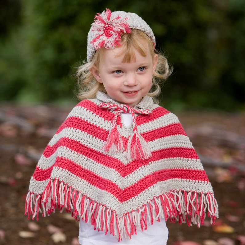 Famous Free Crochet Child Poncho Pattern Motif Sewing Pattern
