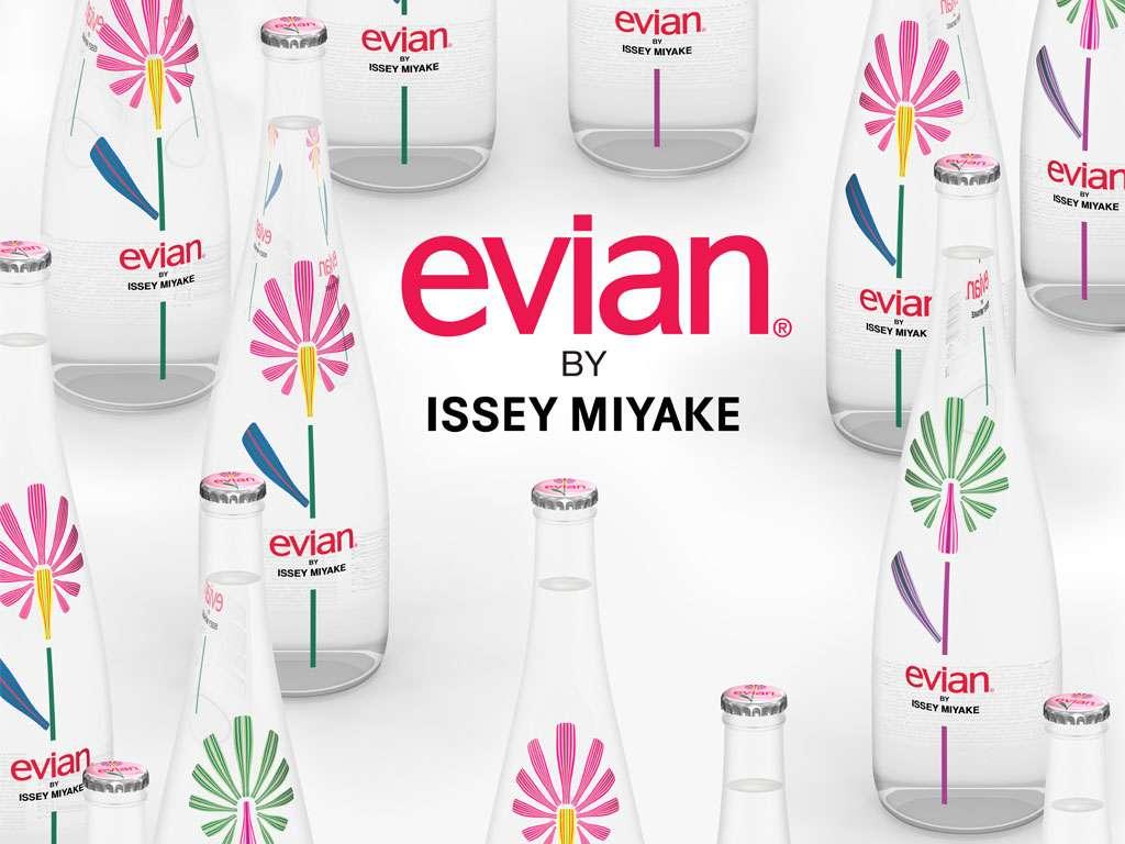 Evian Issey Miyake Bottles