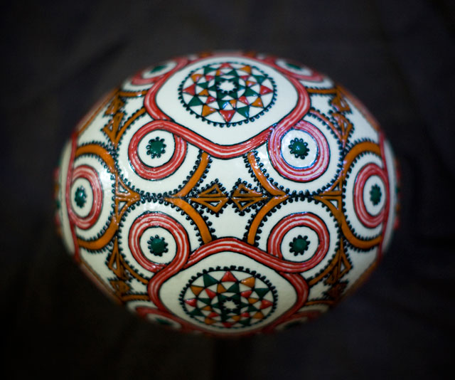 Handpainted ostrich eggs