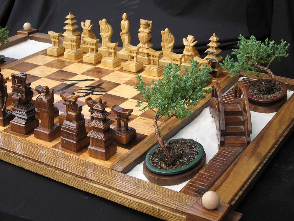 Hand Carved, Themed Chess Sets