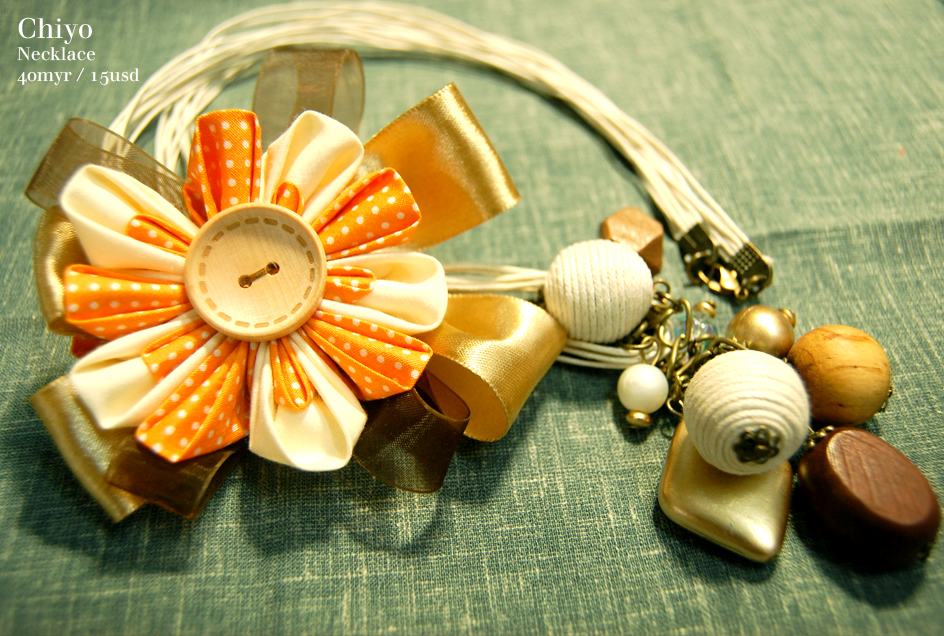 Kanzashi-Inspired Handmade Accessories