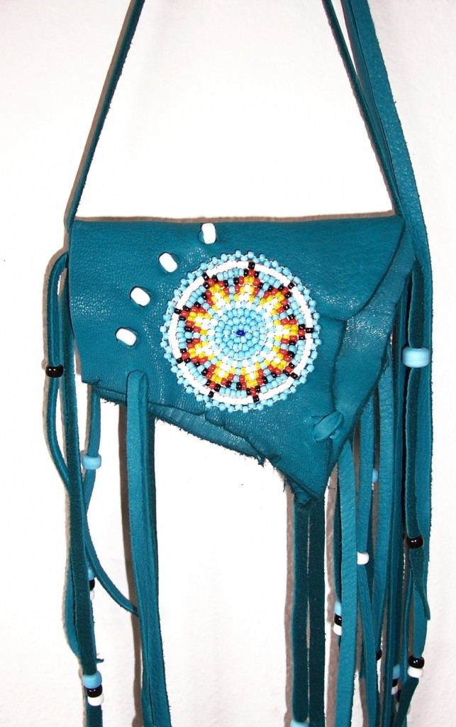 Handmade leather bags purses and medicine sacks for Arts and crafts tote bags