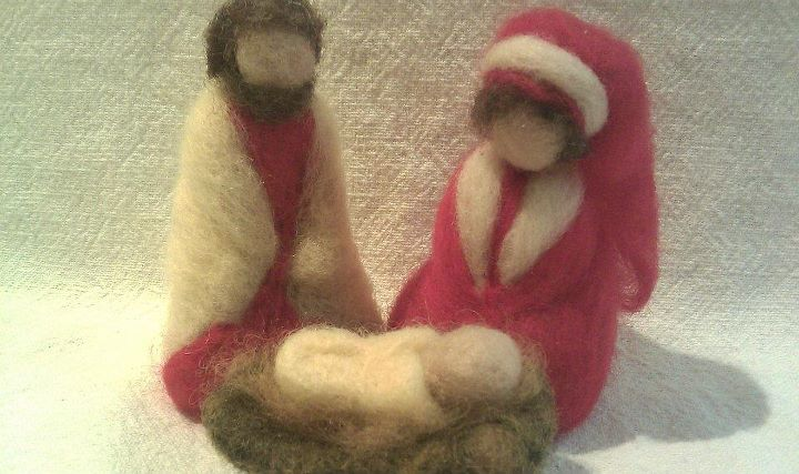 Hand Felted Holiday Decorations